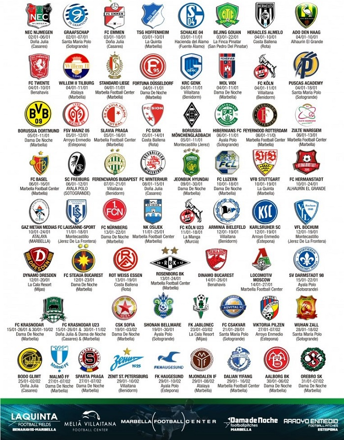 Футбольные клуб испани