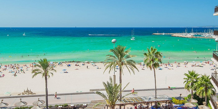 Пляж Playa-de-Palma-Mallorca на Майорке