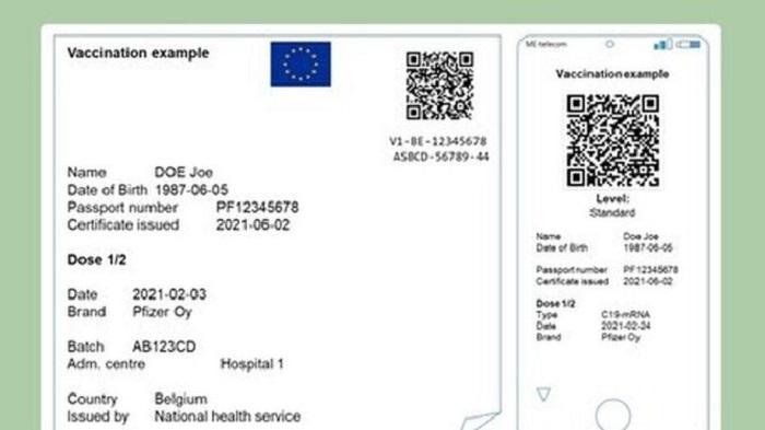 Европейский сертификат вакцинации