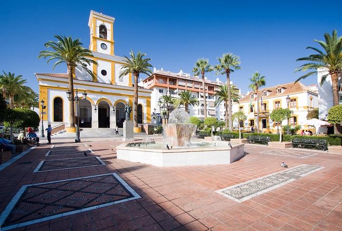 Plaza de Iglesia in San Pedro de Alcantara,